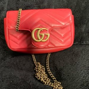 AUTHENTIC GUCCI GG Marmont Leather Super Mini Bag